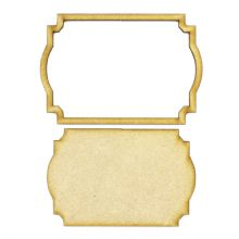 Frame and Panel 16 - Wooden 3mm MDF Laser Cut Craft Blank Scrapbook Topper